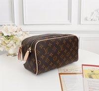 Berühmte Marke Handtasche Designer Luxus Handtasche Klassische Blumenbrief Gestaltungselement Waschbeutel N47528