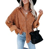 Women's Jackets CINESSD Pit Strip Women Casual Coat Turn Down Collar Long Sleeves Single Breasted Solid Cardigan Button Pocket Coats