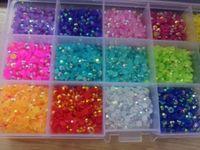 15000-7500 قطع ab مسمار الراين 15 ألوان جيلي آرت ديكو تألق الأحجار الكريمة وحجر الراين، 87888 ديكورات