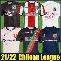 2021 2022 Jimenez Filistino Deportivo Futbol Jersey Parraguez Colo-Colo Futbol Gömlek Montillo Camiseta Universidad de Chile 21/22 Chilean Campeonato Nacional