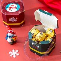 Wrap портативный бумажный ящик Santa Claus Candy коробки Рождественские сладости торт подарок партии украшения творчества Tote сумка изысканный стиль GWD9429