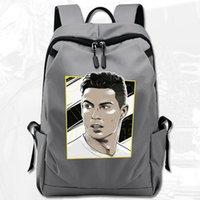 Cristiano Ronaldo Dos Santos Aveiro Mochila Fútbol Daypack C Star Schoolbag Computer Rucksack Deporte Escuela Bolsa Al Autor Paquete Día