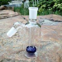 ركاز الرماد 14 ملم سميكة بيركس الزجاج الزجاج الأصفر الفوار الزجاج بونغ الرماد الماسك 45 درجة زجاجات الزجاج