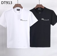 DSQ FANTASMA DA TARTARUGA 2020SS New Mens Designer T camisa de moda de Paris T-shirts Verão DSQ padrão T-shirt masculino da qualidade superior 100% Algodão Top 6815