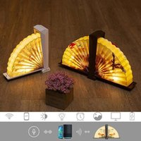 Table Lamps Creative Smart WiFi LED Book Lamp Wooden Portable Night Light USB Rechargeable Magnetic Foldable Desk Home Decoration