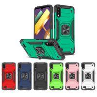 درع الحالات الهاتف ل LG المخملية K92 5G K52 Stylo 7 4G K22 K51S PC + TPU غطاء وعرة مع CD حبة سيارة خاتم قوس