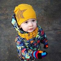 Caps & Hats Winter Spring Baby Hat Scarf Set Cotton Boy Girl Cap Star Print Kids Children Born Bonnet Beanie Boys