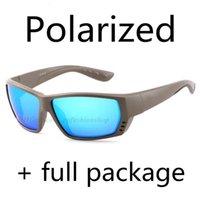 새로운 TA 편광 된 선글라스 바다 낚시 서핑 유리 9 색 블루 EVA 상자 천으로 크래프트 종이 상자 스티커 8 조각 세트