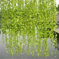 Simulation Of Artificial Flowers Rattan Cherry Blossom Vine Wall Hanging Craft Ornament For Wedding Home Decoration Muti Color Decorative &