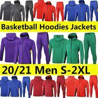 2021 Anthony Hoodies Davis Langarm 20 21 Basketball Trainingsanzug LBJ Gasol Kapuze Kuzma Schroder Jacke Anzüge Sport Wintermantel