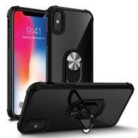 Coques de téléphone portable de qualité militaires Miroir Magnétique Body Body Housse de protection Housses de rechange pour iPhone Samsung LG Moto Google Huawei