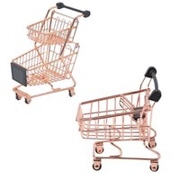 Double-Deck Shopping Cart Makeup Sponge Holder Drying Rack Beauty Powder Puff Display Stand Organizer Hooks & Rails