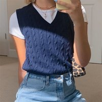 HEYounGIRL Solid Casual Sleeveless Sweater Vest Y2K Preppy Style Knitted Jumpers Ladies Vintage Korean Streetwear Fashion