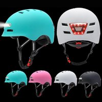 Motorcycle Helmets Cycling Bicycle Helmet Road Bikes Integrally-Mold LED Lighting Reflective EPS+PC For Youth Men Women