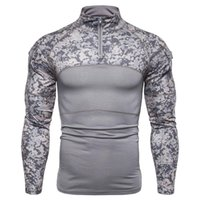 Men's T-Shirts Men Camouflage Tactical Military T Shirt Clothing Combat Assault Long Sleeve Tight Army Costume