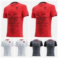2021 2022 Албания Футбол Футбол 22 22 Главная Прочь Третьего мужского Кит Размер S-XXL Футбольные Рубашки Camisa de Futebol Пустой Камиссета Униформа