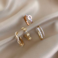 Woven Twisted Open Net Red Ring Female Diamond Japanese and Korean Joint Index Finger Ring Simple Fashion Ins Personality Ring