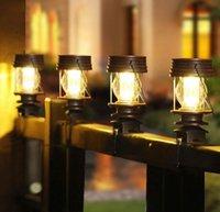 Solar Post Cap Light for Wrought Iron Fence Granny Retro Solar Barn Lantern Solar Stake Lights for Outdoor Garden