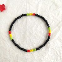 Charm Bracelets Punk Hip Hop Elastic Stretch Seed Beads Bracelet Fashion Jewelry