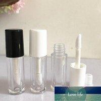 0.8ML 100pcs White Cap Empty Mini Lip Gloss Tube, Small Liquid Lipstick Refillable Sample Bottle, Plastic Lipgloss Package