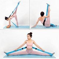 Yoga vendaje estiramiento cinturón recto caballo entrenamiento dividido horquilla horizonte de baile práctica de baile la banda elástica de la banda suave de la resistencia de encaje