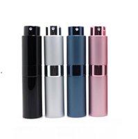 7 colori Bottiglia spray in metallo alluminio portatile portatile ricaricabile profumo barattolo contenitore cosmetico contenitore vuoto atomizzatore da viaggio rivestimento in vetro contenitori BWE7849