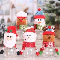 Bambini regalo di natale borse di caramelle barattoli di stoccaggio bottiglia bottiglia Babbo Natale borsa Zza3336