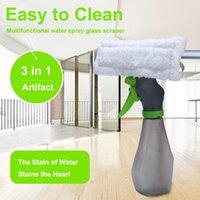 Squeepees Limpiador de ventanas 3 en 1 Spray Limpieza Cepillo de vidrio Scraper Silicone Wiper Microfibra Cloth Kit Kit Coche Limpio