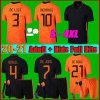 Men + Kits Kit 2021 Países Bajos Jersey de fútbol 2122 Camisa de fútbol S-4XL