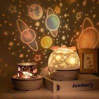 Lampes de table Night Light Projecteur Constellation Constellation Chambre Nightlight Kids bébé enfants Chambre Bluetooth Haut-Parleur Musique
