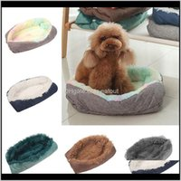 Kennels Pens Home & Gardenwarm House Winter Comfortable Plush Dog Round Nest Removable Washable Cat Bed Soft Pet Supplies Dogs Sofa Drop Del