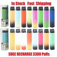 EDGE Rechargeable 3300 Puffs Disposable Device Pod Kit E-cigarettes Battery Pre-Filled Pods Cartridge Vape Stick Pen Vs Plus XXL Flex Kits