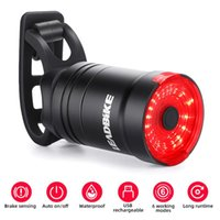 Bike Lights LEADBIKE Smart Cycling Tail Light Brake Sensing Waterproof USB Chargeable Bicycle Taillight Led Mtb Accesorios