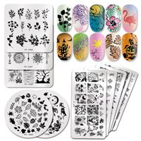 Nail Art Templates PICT YOU Halloween Stamping Plates Pumpkin Flowers Animal Tropical Geometry Pattern Image Lace Stamp