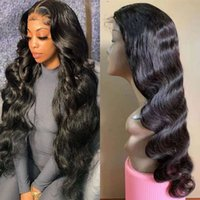 Brazilian T Part Lace Closure Human Hair Wigs For Women 150% Density Natural Color Body Wave Wig Pre Plucked