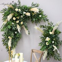 Decorative Flowers & Wreaths Green Plants Dried Pampas Grass Artificial Flower Wall Wedding Arch Decor Corner Row Stage Backdrop Party Windo