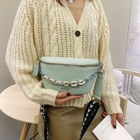 Leather Fanny Shoulder Pack Overall Style Design Simple And Generous Women Letters Waist Purse Zip Crossbody Bags