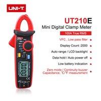 Multimeters True RMS مصغرة الرقمية المشبك متر UNI-T UT210E / UT210D / UT210A / B / C NON الاتصال المتعدد Multimeter VFC السعة AC / DC الجهد الحالي