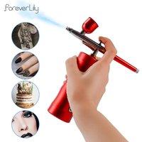 Чистка Top 0.3mm Мини-воздушный компрессор Kit Air-Brush Pains Spray Pun Airbrush для ногтей для ногтей татуировки ремесло-торт наноматужный туман.