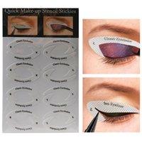 Eyeliner Maquillador Plantilla Etiqueta engomada Set Shadowadow Ojo Dibujo Forro Plantillas Pegatinas Pegatinas Consejos adhesivos
