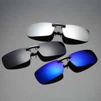 Abnehmbare Nachtsichtlinse Ziehen Metall Polarisierte Clip auf Gläsern Sonnenbrille Autofahrer Goggles oculos Masculino Vintage # Y5