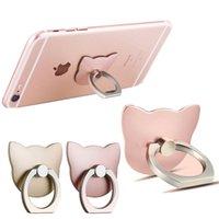 360 Rotation Telefone Ringe Halter Katze Form Finger Ring Mobiltelefon Sockel Mobiltelefon Halterung Ständer Smartphone Tanker Fingerhalterung
