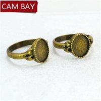 100 stücke fit 10 * 8mm legierung metall ring einstellungen cabochon basis antike bronze plattiert diy leer bügelschmuck zubehör