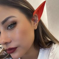 Stud Funny Ear Hangers Halloween Earrings Silicone Elf For Women Gothic