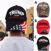 U.S 2024 ترامب الانتخابات الرئاسية الانتخابات الرئاسية كاب ترامب قبعة قبعة بيسبول قابل للتعديل سرعة انتعاش القطن