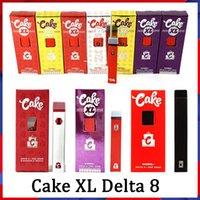 도매 최신 케이크 XL 델타 8 D8 일회용 전자 담배 장치 전체 그램 (1ml) 용량 빈 포드 충전식 vape 펜 280mAh 두꺼운 기름을위한 배터리