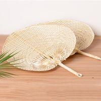 Ventilateurs de bambous de bambou de paille tissés à la main Favoris bébé Protection de l'environnement Mosquito Repellent Fan pour cadeau de mariage d'été FWF8890