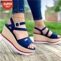 Women's plus size wedge sandals platform Roman shoes women #bd0Z