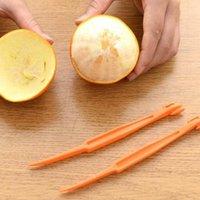 15 سم مقطع طويل أدوات الفاكهة البرتقال أو الحمضيات مقشرة الفواكه zesters مضغوط وعملية المطبخ أداة KKB6841