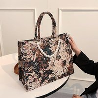 Evening Bags High Capacity Woman Canvas Shoulder Quality Leisure Brand Handbags All-match Pearl Chain Crossbody Bag Bolsas